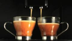 Coffee preparation Stock Footage