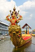 thai royal barge, supreme art of thailand. - stock photo