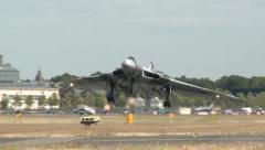 Historic Vulcan Bomber Landing - stock footage