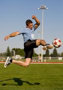 soccer kick - stock photo