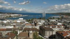 Geneva panorama Stock Footage