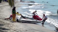 Jet Skis, Watercraft, Seadoos, Water Sports, Fun - stock footage