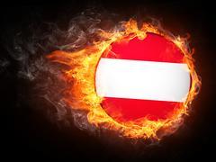 Stock Illustration of Austria Flag