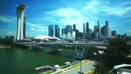 Stock Video Footage of Singapore aerial cityscape view, timelapse