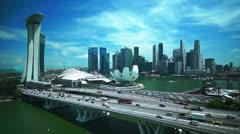 Singapore flyer, timelapse Stock Footage