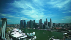 Singapore aerial cityscape view Stock Footage