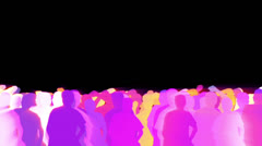 Animated dancing crowd Stock Footage