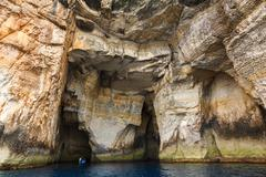 Malta,  gozo island, view of the rocky coastline Stock Photos