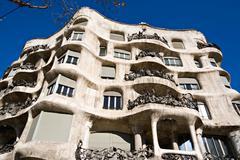 La pedrera, antonio gaudi's casa mila in barcelona Stock Photos