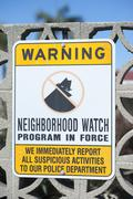 Neighborhood watch sign - stock photo