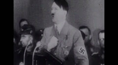 Stock Video Footage of Hitler - Speech with audio