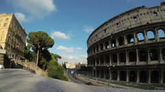 Colosseum Time Lapse  with Traffic in 4K - Italy, Rome Stock Footage