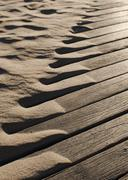 Drifting beach sand abstract Stock Photos