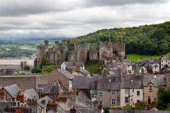 Conwy castle in snowdonia, wales Stock Photos