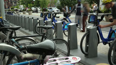 Citibike scheme in NYC Stock Footage