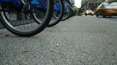 Citibike scheme in NYC - stock footage