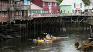 Stock Video Footage of Ketchikan Alaska kayak tourism city Creek recreation HD 7584
