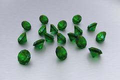 3D Emerald - 18 Green Gems Stock Illustration