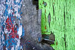 faded colorful wood texture - stock photo