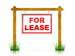 Sign - For Lease - stock illustration