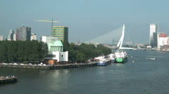 Sail away Rotterdam Stock Footage