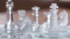 Resigning chess game Stock Footage
