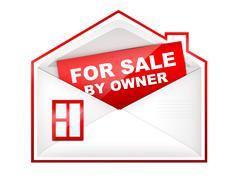 Envelop - For Sale By Owner - stock illustration