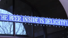 New Belgium Brewery - Beer Inside Stock Footage