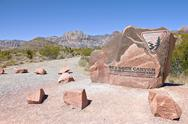Stock Photo of visiting the red rock canyon nevada.