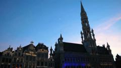 Light Show at Grand-Place - Brussels 18 Stock Footage