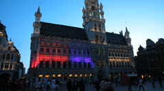 Light Show at Grand-Place - Brussels 20 Stock Footage
