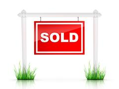 Sign - Sold Stock Illustration
