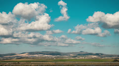 Galilee mountains time lapse Stock Footage