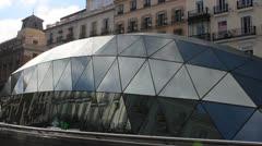 Spain - Madrid, Puerta Del Sol 1 - Metro Station Stock Footage