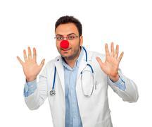 Clown young doctor Stock Photos