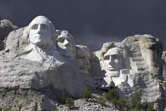 Mt Rushmore Thunderstorm Stock Photos