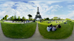 Eiffel Tower 360 video panorama HD Stock Footage
