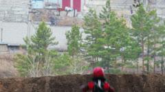 Enduro bike riders in Russia - stock footage