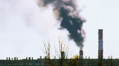 Stock Video Footage of Smoking power plant in Russia during heat haze