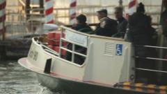 Public transports in Venice Stock Footage