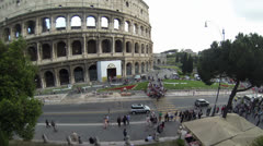COLOSSEUM PANORAMIC VIEW TIME LAPSE 4K Stock Footage