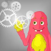 Funny Monster. - stock illustration