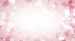 Pink hearts frame loop background Stock Footage