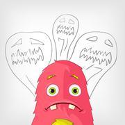 Funny Monster. Stock Illustration