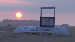 ocean city nj sunrise 2 - stock footage