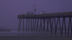Ocean city nj beach dawn 2 Stock Footage