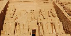 abu simbel temple, egypt - stock photo
