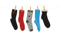 odd socks - stock photo