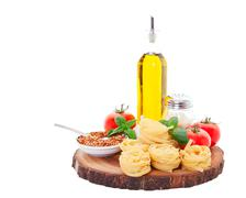 italian cooking ingredients - stock photo