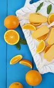 orange popsicle ice cream bars - stock photo